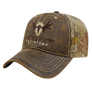 Faux Leathered Poly/Cotton Camo Cap