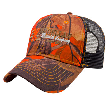 Orange Ridge Camo with Black Mesh Cap