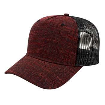 Five Panel Poly/Rayon with Mesh Back Cap